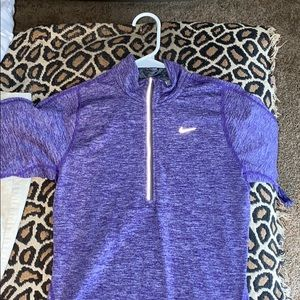 purple nike athletic quarter zip